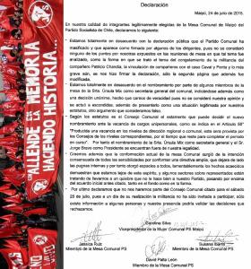 declaracion partido socialista