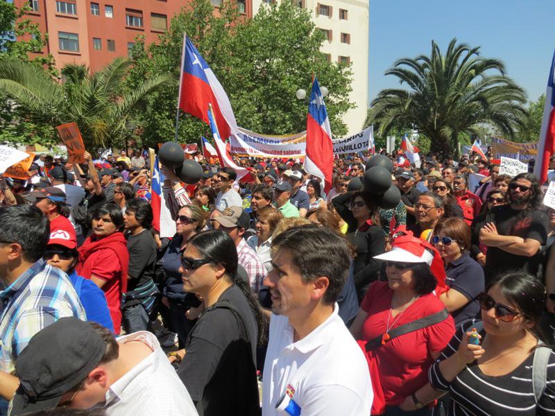 funcionarios municipales marchan