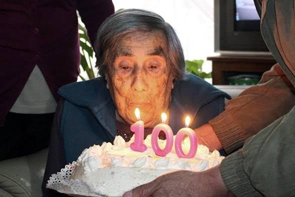 Blanca Herrea cumplio 100 años