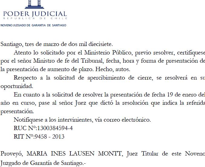 resolucion de jueza maria ines lausen