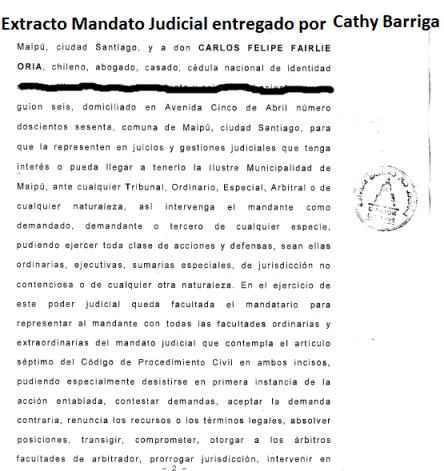 extracto mandato judicial a Carlos Fairlie