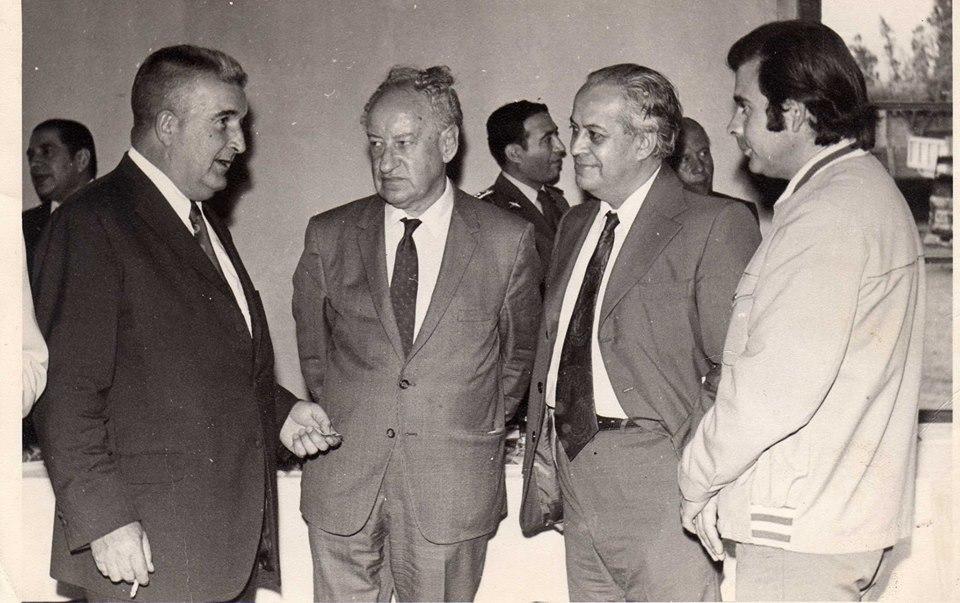 José Luis Infante, junto al vecino e ingeniero Rafael Emperanza que durante largos años fue Director de SMAPA