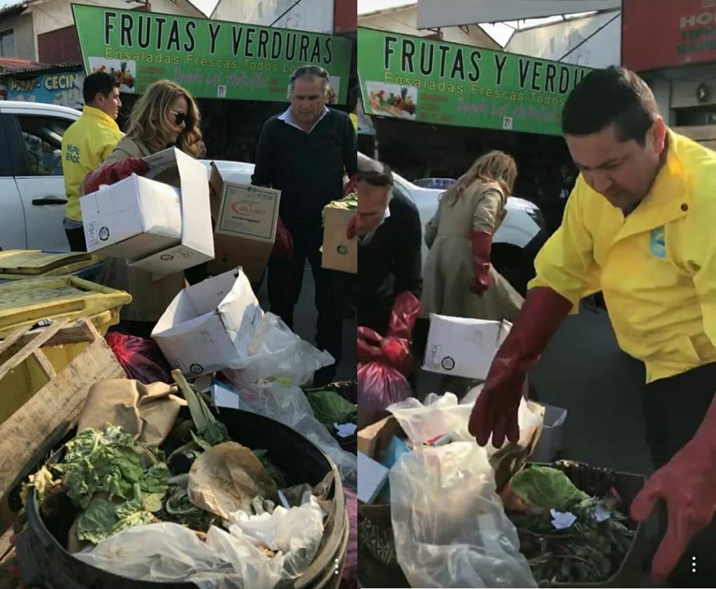 catht barriga supervisa basura en el mercado municipal